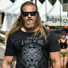 Is Spiritual GANGSTER on the menu? How bout a VIKING? I mean things go do! by nuckin_futs_nixie Moustaches, Gorgeous Men, Beautiful People, Hair And Beard Styles, Long Hair Styles, Long Hair Beard, Viking Men, Viking Warrior, Great Beards