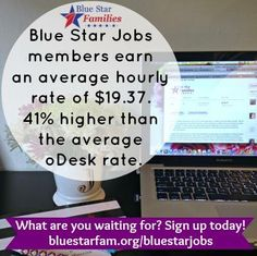 Are you a #milspouse looking for flexible, full or part-time employment that pays well? Sign up for Blue Star Jobs! Find work, cultivate business relationships, and grow your career! Did we mention all work is done virtually?