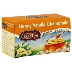 Celestial Seasonings Honey Vanilla Chamomile Tea - this smells and tastes amazing Celestial Seasonings Tea, Vanilla Tea, Tea Brands, Chamomile Tea, Natural Honey, Best Tea, Herbal Tea, Snack Recipes, Tea Recipes