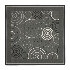Safavieh CY1906-3908 Courtyard Area Rug, Black / Sand  Courtyard Area Rug, Black / SandSafavieh takes classic beauty outside of the home with the launch