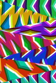 Sarah Bagshaw - mixed up triangles.