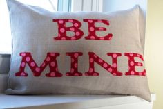 12x16 Be Mine Pillow Cover by KelsCozyCorner on Etsy, $30.00