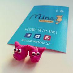 #Nuevo encargo. #Pendientes de #fimo #personalizados 4€ #pink #pig #cute #earrings #arcillapolimerica #handmade #friday #beauty #freaky #fashion