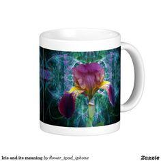 Iris flower classic white coffee mug