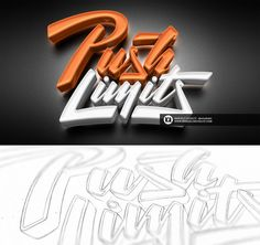 •custom typeface rendered in 3D   • letters are customized so that words integrate perfectly.