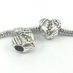 Angel Wings Big Hole Alloy Beads European Charms Fit Pandora Bracelets & Bangles B00144