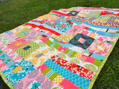 Sticks & Stones Toddler Quilt  39 x 50 by QuiltingWhimsy on Etsy, $154.00