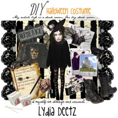 """@Katherine Canseco """"Dark Lydia Deetz - DIY Halloween Costume"""" by justina-marie-1 on Polyvore"""