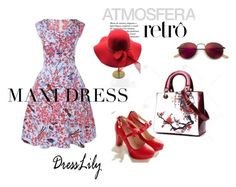 """DressLily#4"" by selmazbanic ❤ liked on Polyvore featuring Ray-Ban"