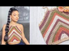 Beach Crochet, Crochet Summer Tops, Summer Knitting, Crochet Crop Top, Crochet Cardigan, Free Crochet, Crochet Bikini, Knit Crochet, Crochet T Shirts