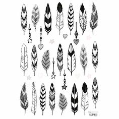 Wall Tattoo, Tattoo Drawings, Henna Designs For Kids, Feather Drawing, Drawing Drawing, Deco Stickers, Diy Kids Furniture, Disney Phone Wallpaper, Creative Labs
