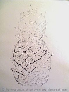 Serena Lewis: How to sketch a pineapple
