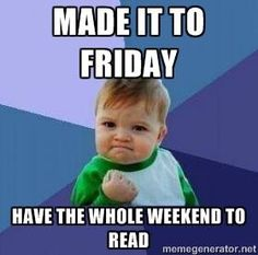 Do you celebrate the weekend with reading? Visit the library to stock up for your celebrations.