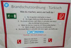 Brandschutzordnung für Türken - Türkenwitze - WitzeMaschine