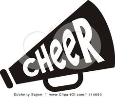 cheer megaphone clipart black and white clipart panda free rh pinterest com Megaphone Clip Art blue cheer megaphone clipart