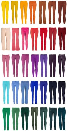 Colored jeans in every shade! Still not over this trend!