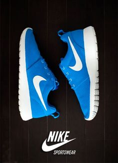 #Nike Roshe Run Blue #Sneakers