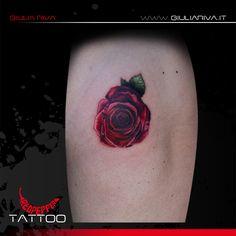 my first realistic tattoo rose - giulia riva art