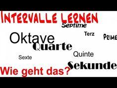 [Noten lernen] - Intervalle - YouTube