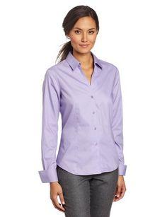 Women's Long Sleeve No-Iron Easy Care Shirt