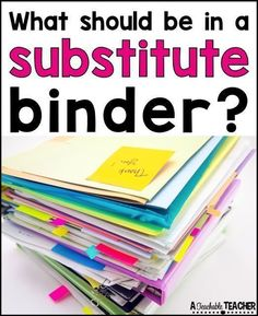 All About Substitute Teacher Binder | what should be in a substitute teacher binder | preparing for substitute | substitute teacher ideas | sub teacher ideas | sub teacher binder | teacher sub plans | teacher sub binder | primary sub plans | substitute teacher planner