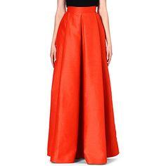ROKSANDA ILINCIC Lalia pleated maxi skirt (Tangerine