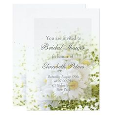 Shop Daisies in Love- Editable Bouquet Bridal Shower Invitation created by UtART_HOME. Floral Invitation, Floral Wedding Invitations, Bridal Shower Invitations, Invite, Save The Date Invitations, Custom Invitations, Spring Flower Bouquet, Daisy Wedding, Bridal Shower Cards
