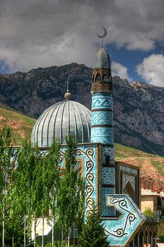 Naryn Mosque, Naryn Mosque, Kyrgyzstan. i just want to point out that there is only one vowel in that name.