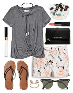 """""""{Day 4} read d :)"""" by kk-purpleprincess ❤ liked on Polyvore featuring Givenchy, White House Black Market, Abercrombie & Fitch, Miss Selfridge, Chanel, NARS Cosmetics, Michael Kors, LC Lauren Conrad, Ray-Ban and summerisherecontest2016"""