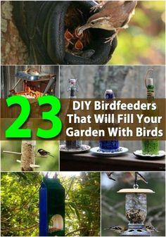 Amazing DIY birdfeeders.