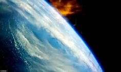 Earth during re-entry_ Images Captured by Orion