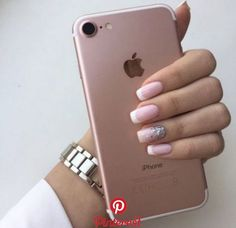 Nails Acrylic Short Winter 2019 56 Ideas Nails Acrylic Short Winter 2019 56 Id. Classy Nails, Fancy Nails, Trendy Nails, Pink Nails, Nail Tip Designs, Nails Design, French Tip Nails, Short French Nails, Short Nails