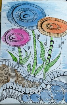 Zentangle colorful garden!!