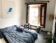 The Teahouse - Balcony Room - Houses for Rent in Hanoi, Hà Nội, Vietnam Private Room, Hanoi, Rental Apartments, Renting A House, Perfect Place, Balcony, Vietnam, Houses, Bed