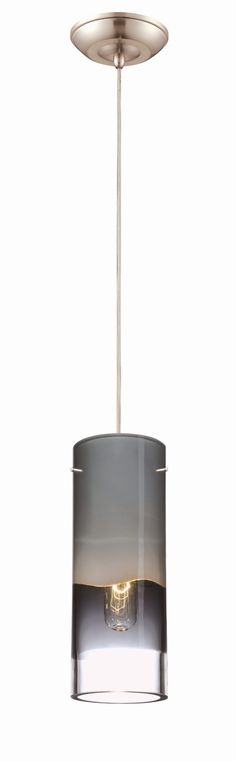 Features:  -Pendant.  -Number of lights: 1.  -Finish: Satin nickel.  -Crete collection.  -Dimmable.  Fixture Type: -Mini pendant.  Style: -Contemporary.  Finish: -Nickel.  Number of Lights: -1.  Shade