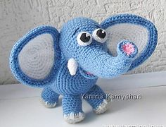 Cute Elephant - free pdf pattern by Amigurumi Fair : Cute Elephant – free pdf. : Cute Elephant – free pdf pattern by Amigurumi Fair : Cute Elephant – free pdf pattern by Amigurumi Fair Crochet Elephant Pattern, Crochet Patterns Amigurumi, Amigurumi Doll, Crochet Baby Toys, Cute Crochet, Crochet Animals, Cute Elephant, Stuffed Animal Patterns, Ravelry