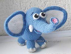 #crochet, free pattern, Ravelry, amigurumi, elephant, stuffed toy, #haken, gratis patroon (Engels), olifant, knuffel, speelgoed, haakpatroon