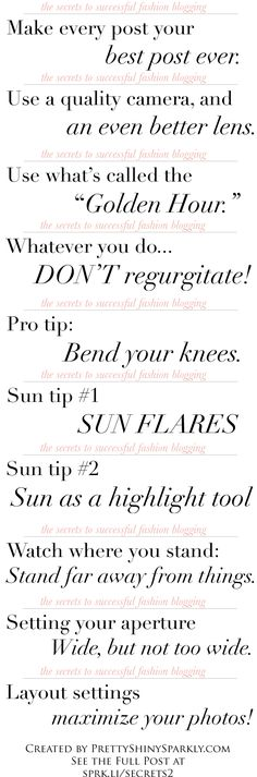 photo rules for blogging