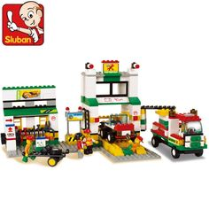 16.24$  Buy now - http://alipvt.shopchina.info/go.php?t=32706781471 - model building kits compatible with lego city gas station 1082 3D blocks Educational model & building toys hobbies for children  #buymethat