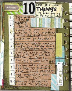 Art Journal - I like the ruler used for a number list