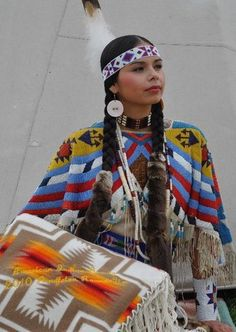 Latonia Andy - Pendleton Round Up - Native American - Woman - Beadwork - Regalia - Beauty Pageant - Winner