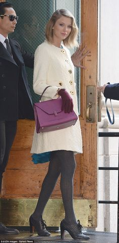 Earlier: In the daytime, Taylor was pictured leaving her TriBeCa apartment solo, looking ready for the freezing New York temperatures in a pristine white coat hiding a same length turquoise dress