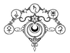 This would make an interesting Sailor Moon tattoo. I think I would just want the middle of the design