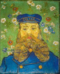 Vincent van Gogh - The Postman Joseph Roulin, 1889 (Kröller-Müller Museum - Otterio) at Van Gogh Repetitions Exhibit - Phillips Collection Art Gallery Washington DC