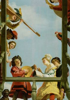 Gerrit van Honthorst - Musical Group on a Balcony [1622] | Flickr - Photo Sharing!