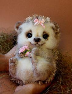 Afbeeldingsresultaat voor tatiana barakova animals for sale Baby Animals Super Cute, Cute Stuffed Animals, Cute Little Animals, Cute Funny Animals, Fluffy Animals, Felt Animals, Animals And Pets, Felt Owls, Baby Animals Pictures