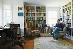 A WRITER'S ROOM  PHOTOGRAPHS By JOHN SPINKS... my rooms are certainly not this tidy. But, how admirable and attractive!