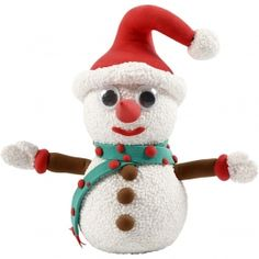 Schattige Sneeuwpop gemaakt van Foam en Silk Clay.