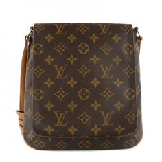This is an authentic LOUIS VUITTON Monogram Musette Salsa. This messenger-style bag is crafted of monogram coated canvas with an adjustable vachetta leather shoulder strap and brass hardware.