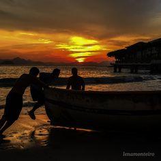 Pescadores... - Copacabana, Ro de Janeiro, Brazil, South America Brazil, Celestial, Sunset, Outdoor, Angler Fish, Outdoors, Sunsets, Outdoor Games, The Great Outdoors